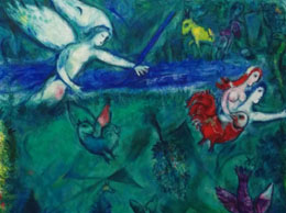 Adam and Eve are cast out of Eden - Nice Chagall Museum