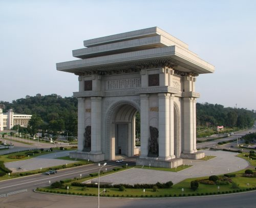 The world's second tallest Arc de Triomphe is in North Korea