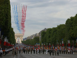 Arc de Triomphe facts: Bastille day parade
