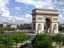 Arc de Triomphe (Arch of Triumph) in Paris