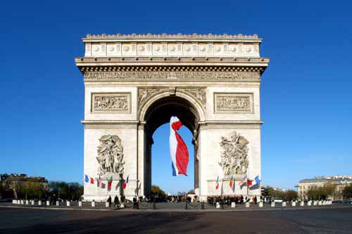 Arc de triomphe facts napoleon the unknown soldier for Facts about the monument