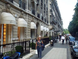 Avenue Montaigne in Paris