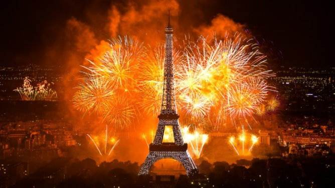 The Bastille day fireworks