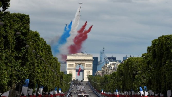 The Bastille day parade