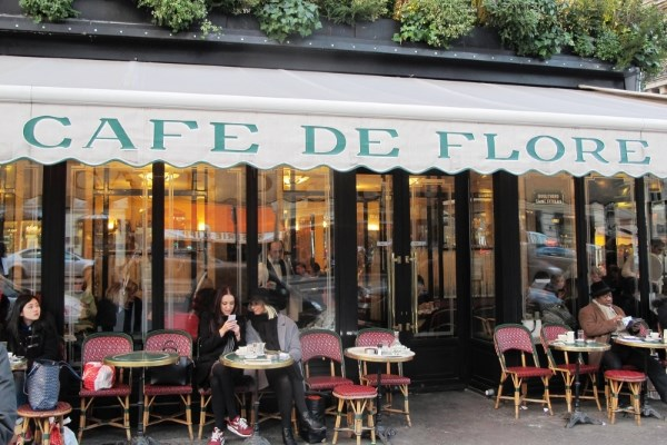 Café de Flore in Saint Germain des Près