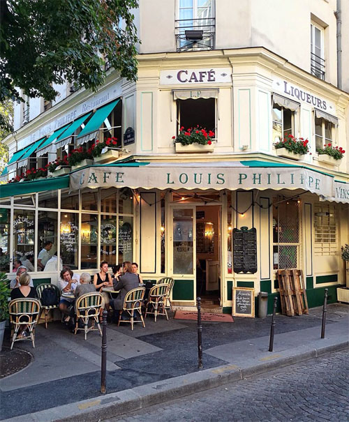 Cafe Louis Philippe, a cheap restaurant near Notre Dame