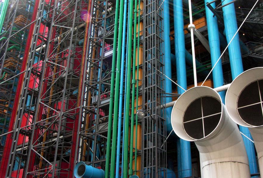 Centre pompidou modern art museum picasso chagall matisse - Centre george pompidou architecture ...