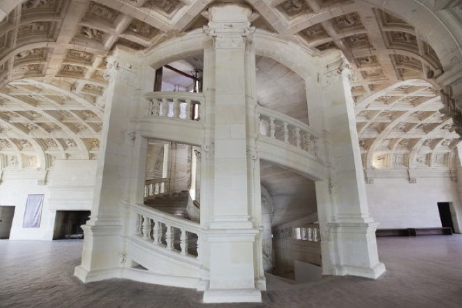 The staircase in Chambord