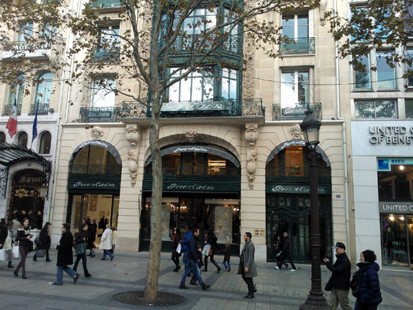Guerlain store on Champs Elyséees