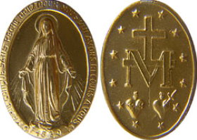 The medal of our Lady of Miraculous Medal