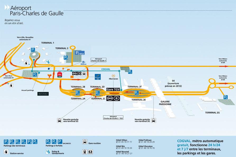 Una mirada del hombre: Paris france charles de gaulle airport map on