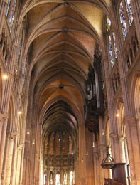 Interior of Chartres Cathedral near Paris