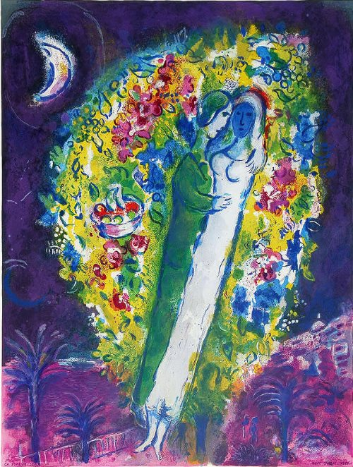 Couple in mimosa - Nice Chagall Museum