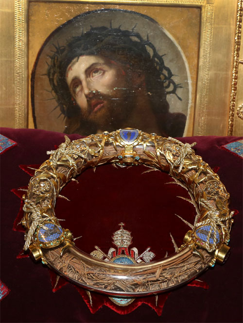 The Crown of Thorns is in Notre Dame