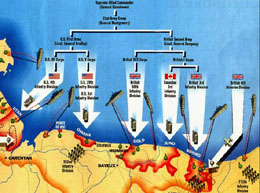 D Day Beaches map