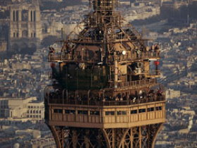 The top of Eiffel Tower
