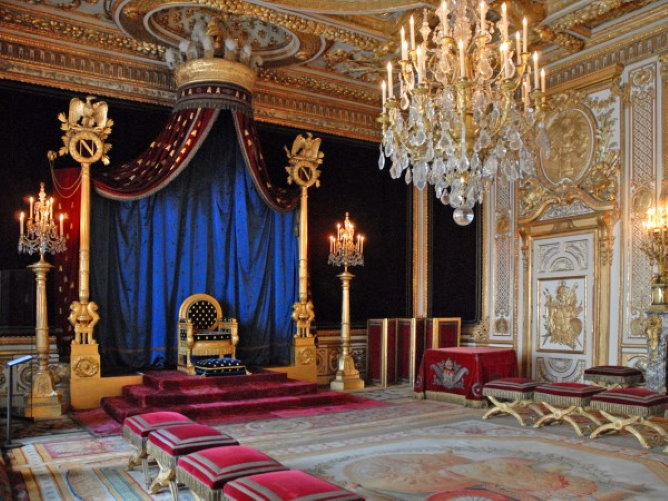 Napoleon room of throne in Fontainebleau
