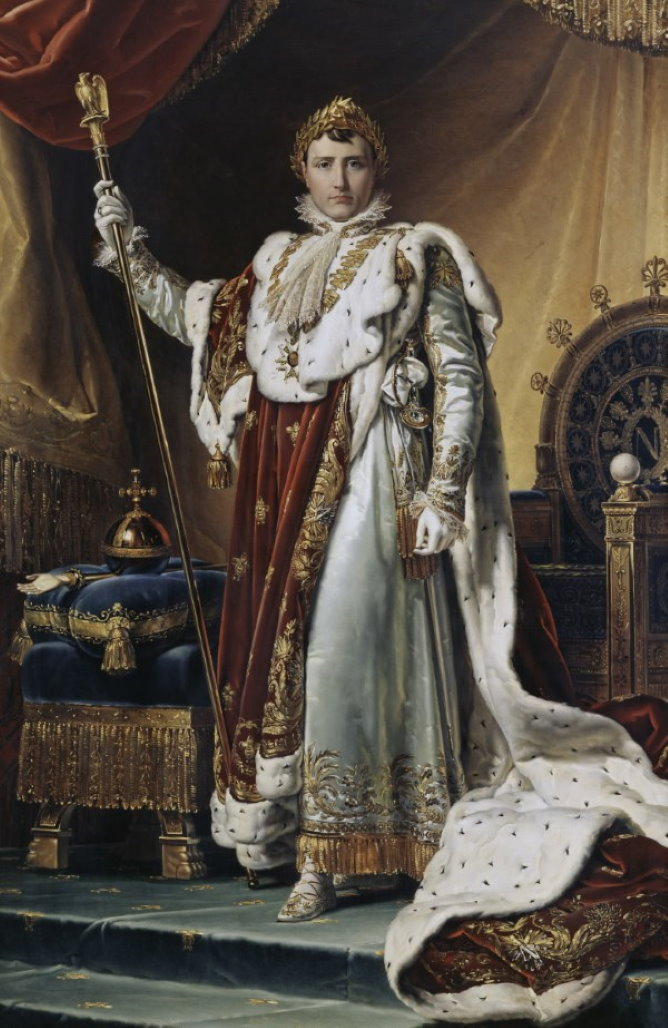 Napoleon painting in Fontainebleau