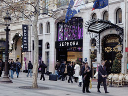 Sephora French perfume store in Paris