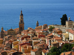 Famous places in France: Menton on the French Riviera