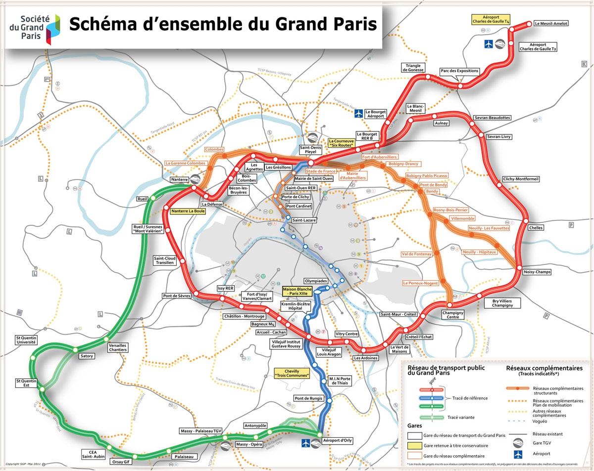 grand paris express printable metro map