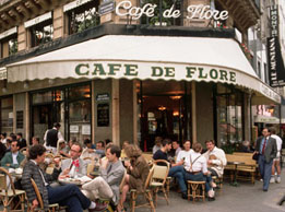Cafe de Flore on Paris left bank