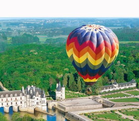 Loire Castles seen from a hot air balloon