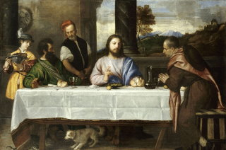 Louvre Museum Italian masterpieces: The pilgrims at Emmaus by Titian