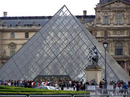 The pyramid at Louvre Museum