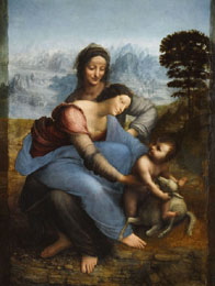 Virgin and child with St Anne by Vinci, Louvre Museum
