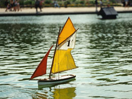 Sailboat in Luxembourg Gardens