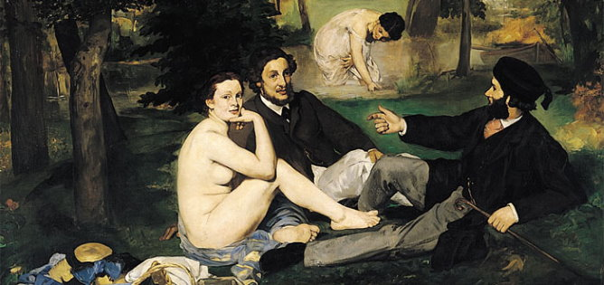Orsay Museum Luncheon on the grass by Manet