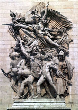 Marseillaise by Rude at Arc de Triomphe