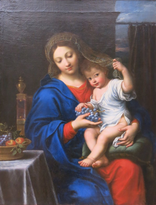 The Virgin of the grapes by Pierre Mignard – Louvre Museum