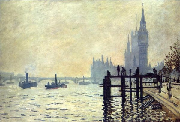 The parliament in London by Monet