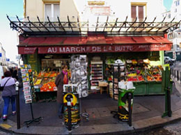 Montmartre grocery store featured in Amelie Poulain