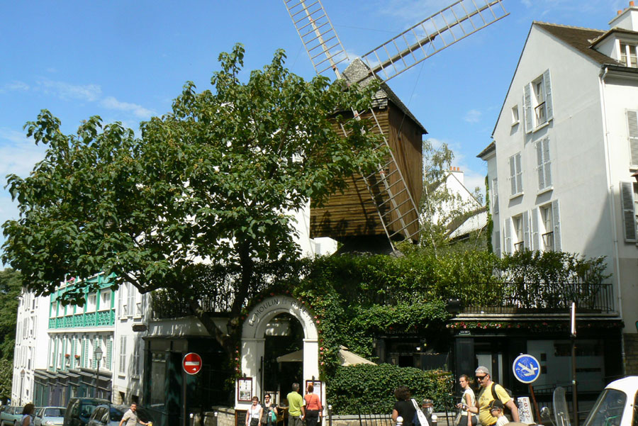 8 Literary Places in Paris: Moulin de la Galette