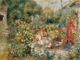 Girls in a garden in Montmartre- Renoir