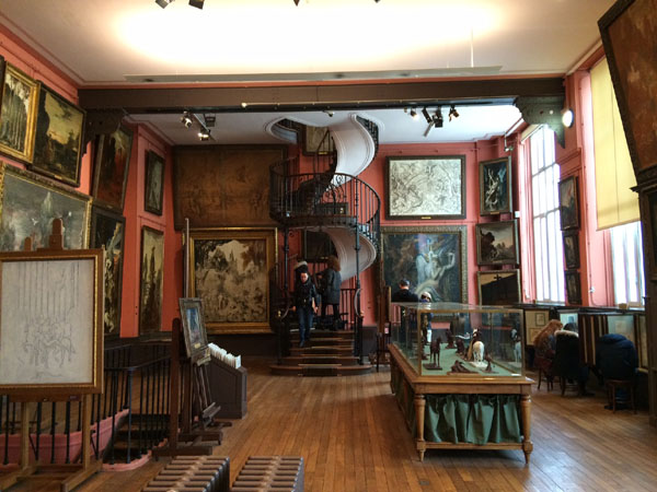 The main room of Musée Gustave Moreau