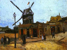 Moulin de la Galette in Montmartre by Vincent Van Gogh