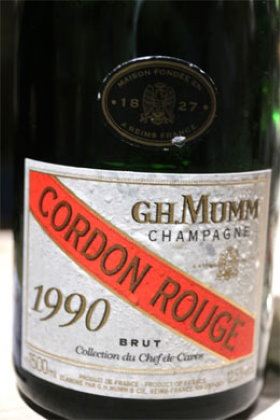 Mumm Cordon Rouge, the famous Champagne wine
