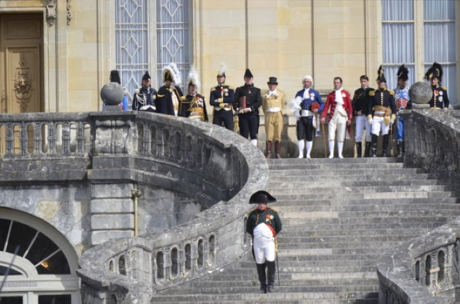 Napoleon farewell in Fontainebleau