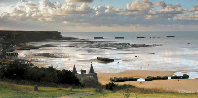 D Day Beaches in Normandy