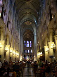 Notre-Dame Cathedral facts: the nave