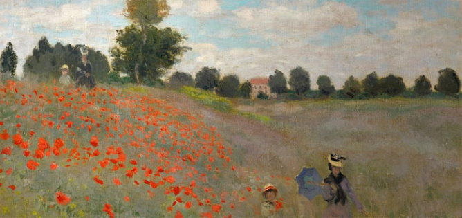 Orsay Museum Poppy field by Monet