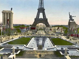 Germany, USSR pavilions, 1937 exhibition, from Palais de Chaillot