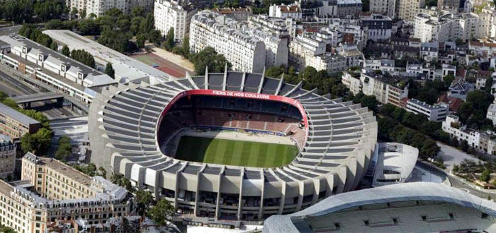 Paris Saint-Germain soccer team. Its Parc des Princes Arena.