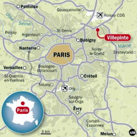 Paris Nord Villepinte is 25 km from Paris
