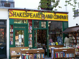 Paris bookstores: Shakespeare and Company