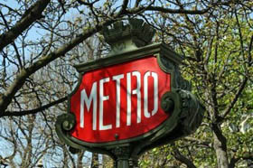 Guimard Paris metro sign